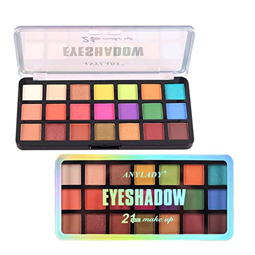 Paleta de sombras de ojos Weixinbuy, sombra de ojos cosmética de maquillaje profesional de 48 colores, sombra de ojos perlada mate arcoíris