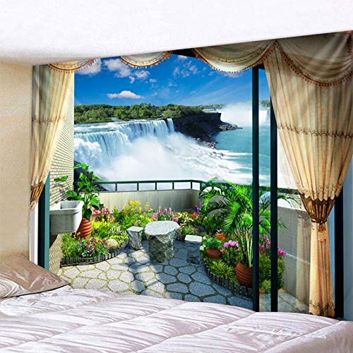 Wasserfall Druck große Wandbehänge auf...