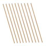 Eowpower 10pcs Brass Round Rods Lathe Bar Stock 3mm Diameter 100mm Length