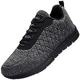 DYKHMILY Zapatos de Seguridad Mujer Zapatos de Trabajo Ligeros Transpirables SRC Antideslizante Antiestático(Gris,38.5)