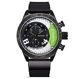 Reloj Deportivo Reloj para Hombre Relojes De Silicona Reloj para Hombre Reloj 20cm Verde Negro