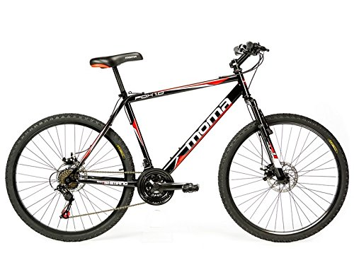 Moma bikes, Bicicletta Mountainbike 26' BTT SHIMANO, doppio disco e doppia sospensione