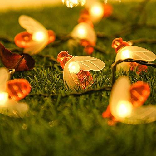 Solar Gartenlichter, Solar Lichterkette Lampion Außen 7 Meter 50 LED Laternen 8 Modi Wasserdicht Solar Beleuchtung für Garten, Hof, Hochzeit, Fest Deko (Warmweiß) [Energieklasse A+++]