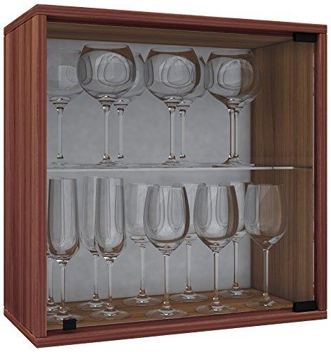 VCM Weino V Weinregal Serie/Weinschrank Regal/Standschrank, Holzdekor, Kern-nussbaum, 52 x 52 x 25 cm