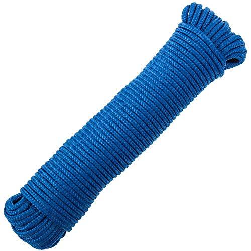 PrimeMatik - Mehrfädrigem PP geflochtenes Seil 20 m x 6 mm blau