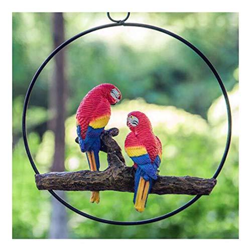LUYIYI Simulation Resin Parrot Schmuck, Gartendekoration, Außentierskulpturen, Baumschmuck (Color : D)