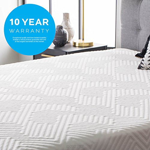 LUCID 12 Inch Twin XL Hybrid Mattress - Bamboo Charcoal and Aloe Vera Infused Memory Foam - Motion Isolating Springs - CertiPUR-US Certified