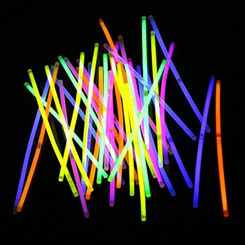 Jago BRACCIALI Luminosi Starlight Discoteca Braccialetti Fluorescenti Set da 200, Assortiti