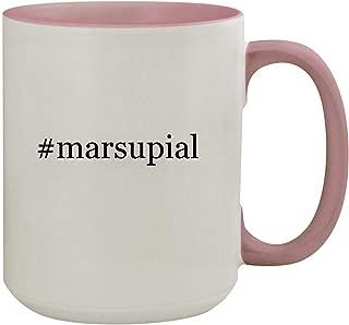 #marsupial - 15oz Hashtag Colored Inner & Handle Ceramic Coffee Mug, Pink