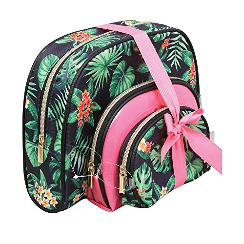 ParisAx Summer 2018 Beauty Case da viaggio, 27 cm, Verde (Rose et Vert)