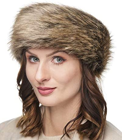 Futrzane Winter Faux Fur Headband for Women Like Real Fur Fancy Ear Warmer Hazel Wolf product image