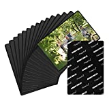 Magicfly Magnetic Photo Frame Pockets Sleeves for Refrigerator, Fits 5 X 7 Inch Photos, Magnetic Fridge Picture Frame for Office Cabinet, Pack of 15, Black