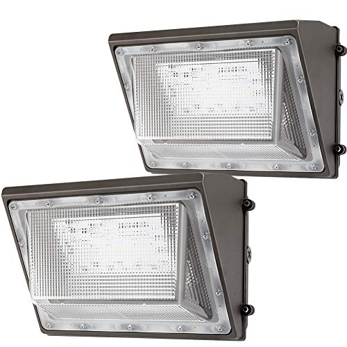 Lightdot 2 Pack 120W LED Wall Pack Lights with Photocell, 13200 LM (700W HPS/HID Equivalent), Daylight 5000K, IP65, Bright Outdoor Commercial and Flood Security Lighting - ETL&DLC Listed