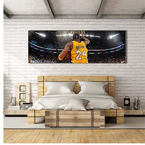zxianc Kobe Bryant Lakers Championship Wall Art Canvas Poster para Living Room Canvas Art Pictures Baloncesto Superestrella -50x150cm...