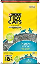 Purina Tidy Cats Non Clumping Cat Litter, Instant Action Low Tracking Cat Litter - 30 lb. Bag