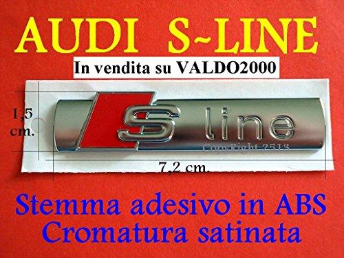 Audi S-Line SLINE A1 A3 A4 A5 A6 A7 TT S Serie Q Stemma Laterale Badge Fregio Logo 1 Pezzo