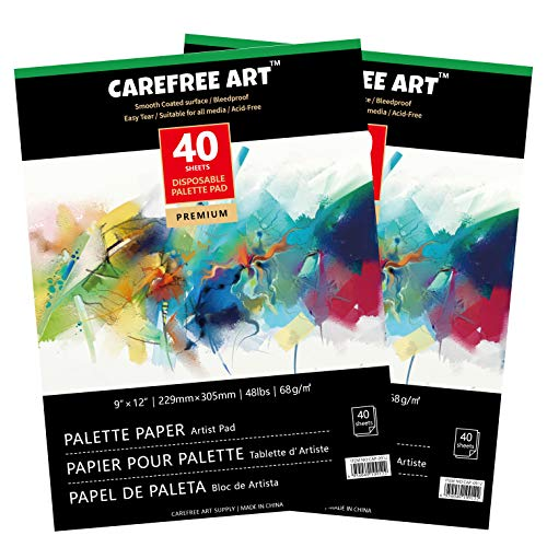 EBIVEN Palette Paper for Acrylic Painting Disposable 9