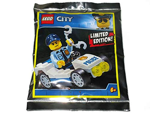 Blue Ocean LEGO City Policeman with Police Car Minifigure Promo Foil Pack Set 951907