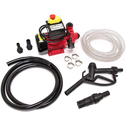 Deuba Dieselpumpe Ölabsaugpumpe 40L/Min 370W inkl. Zapfpistole+Zubehör Absaugpumpe Ölpumpe Heizöl
