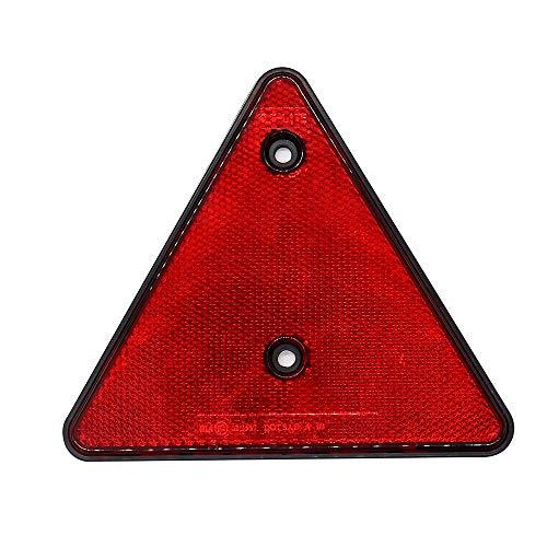 Carrfan Reflector de luz Triangular Rojo para Camioneta Remolque Bus
