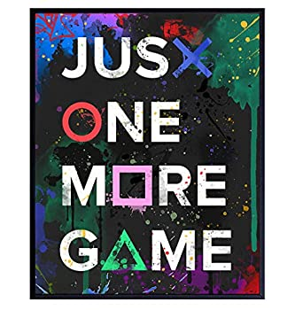 Gaming Room Decor - Video Game Room Decor - Remote Control Posters for Man Cave Family Room Den Boys Bedroom - Gamer Wall Art Decoration Poster - Gift for Men Husband Teens Kids