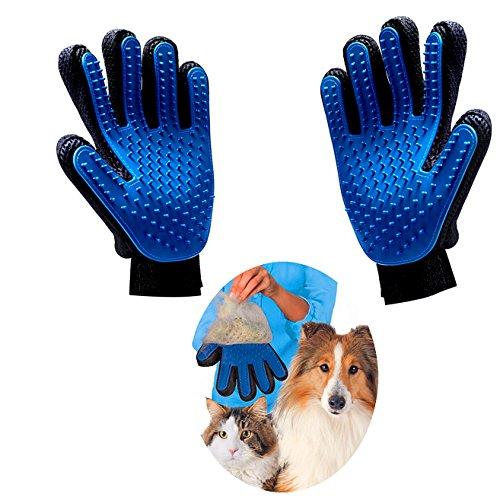 Haikingmoon Guantes para Mascotas - Guante Pelo Gato - Guante Pelo Perro - Perros/Gatos Retiro del Pelo Guantes Eficientes para la Eliminación de Pelo Suelto - Guantes Mascotas (2 Piezas)