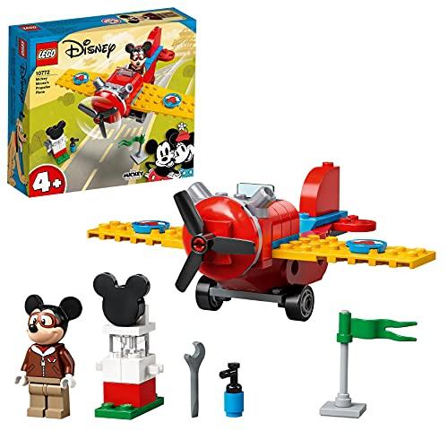 LEGO 10772 Mickey and Friends Avión Clásico de Mickey Mouse, Juguete de Construcción para Niños y Niñas 4 Años