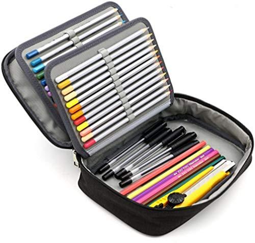 Federmäppchen Junge Mädchen Schulmäppchen Tragbare Federtasche mit Griff Große Kapazität Stiftemäppchen mit Stifthalter Einfarbige Stiftetasche Bleistift-Box für Schreibwaren Schulbedarf Kunstbedarf