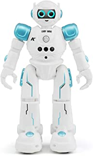 WEECOC Smart Robot Toys Gesture Control Remote Control Robot Kids Toys Birthday Can Singing Dancing Speaking Two Walking Models (Blue)