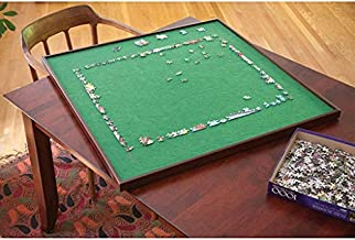Bits and Pieces - Square Spinning Lazy Susan Puzzle Table - Rotating Jigsaw Puzzle Table - Fits 1500 Piece Puzzle
