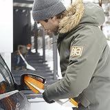 Fiskars Auto-Eiskratzer und Schneebürste, Auseinandernehmbar, Kunststoff/Silikon, Weiß/Orange, SnowXpert, 1019352 - 4