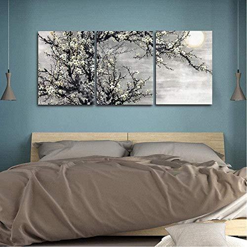 3-teiliges Leinwandmotiv - Aquarell-Kalligraphie-Kunstdruck im chinesischen Stil für Wohnzimmer Ungerahmt 50 x 70 cm x 3