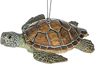 Sea Turtle Brown Shell Green Flippers Animal Ocean Beach Reptile Christmas Tree Ornament