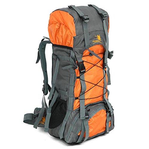 60L étanche Escalade Outdoor Durable Sac à dos femmes et hommes à dos de randonnée Athletic Sport Voyage Haute Qualité , yellow