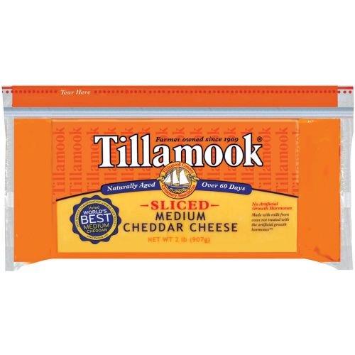 Tillamook Sliced Medium Cheddar Cheese 2 Nashville-Davidson Mall Pound 2021 spring and summer new per case. 12 --