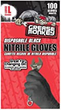 Grease Monkey 23890-110 Disposable Nitrile Gloves, Large (Pack of 100)