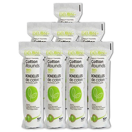 DELON Premium Cosmetic Cotton Rounds, 800 count