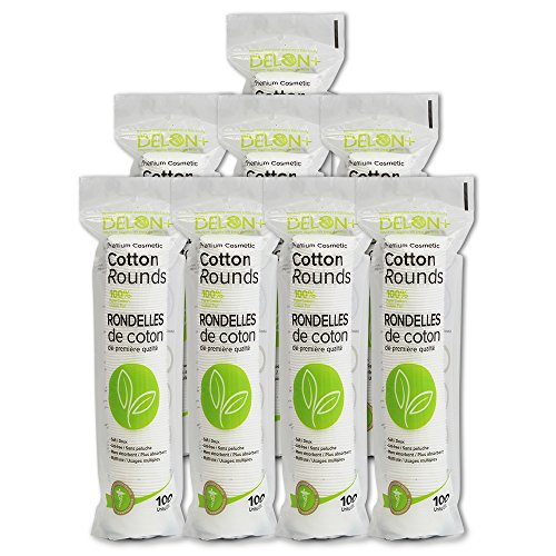 DELON Premium Cosmetic Cotton Rounds, 800 count