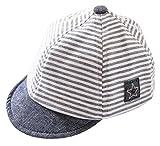 Cloud Kids Baby Kinder Mütze Junge Baseball Cap Hut Streifen Schirmmütze Sonnenhut Grau Größe 48