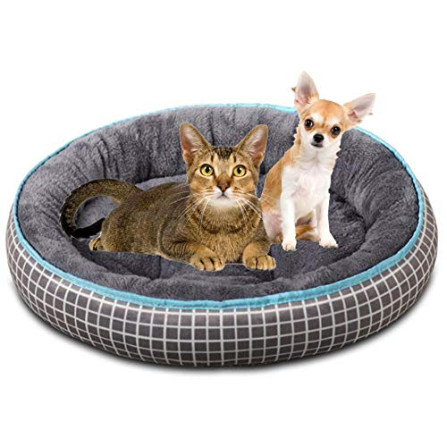 01 02 015 Dog Kennel, Warm Comfortable Round Pet Kennel, Non Slip Soft Cat Sleeping Pad, For Small Medium Pets To Rest, Play Sleep.
