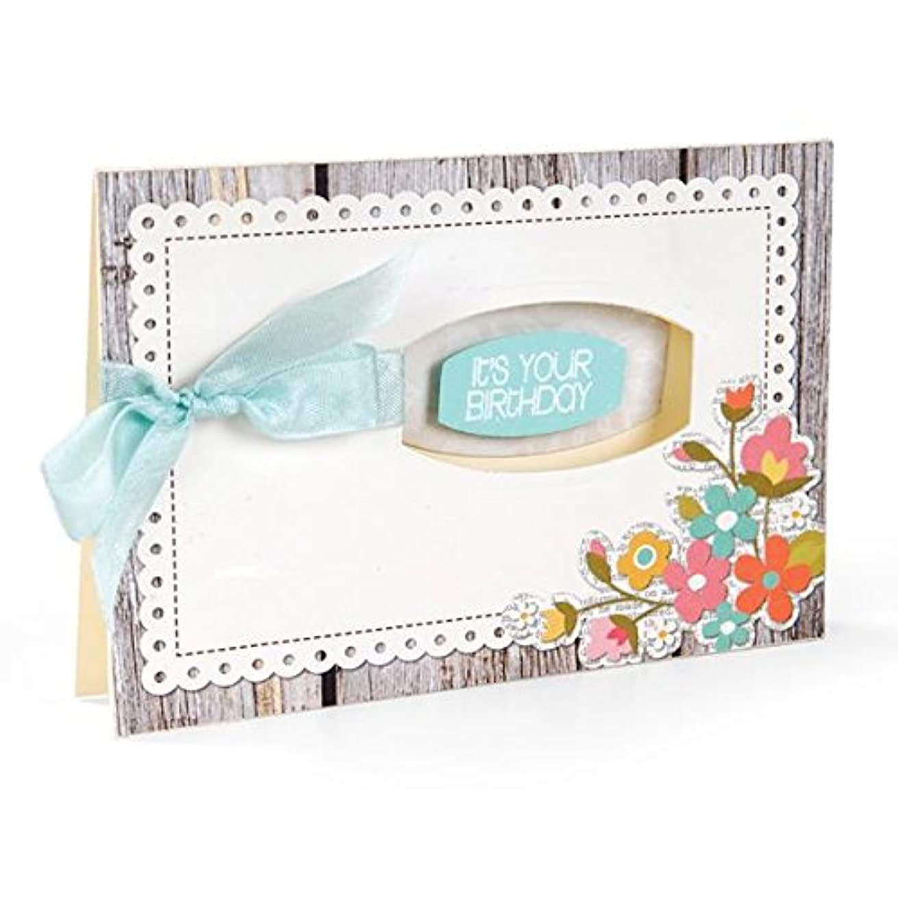 Sizzix Framelits Dies with Clear Stamps, Phrases, 12/Pack