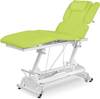 physa NANTES LIGHT GREEN Massageliege höhenverstellbar elektrisch Massagetisch Massagebank Kosmetiksliege Therapieliege (g...