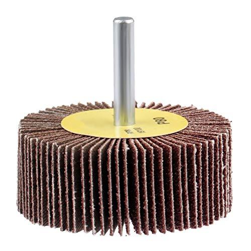 1pc 80-grit 60mm lijado ruedas llantas pulir molienda colgajo ruedas Papel de lija Apto para herramientas rotativas para accesorios de dremel DUO ER