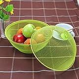 Eruditter Obstkorb Mit Insektenschutz, Früchtekorb Mit Deckel, Obstschalen Für Obst Und Gemüse Für Jede Küche - 5