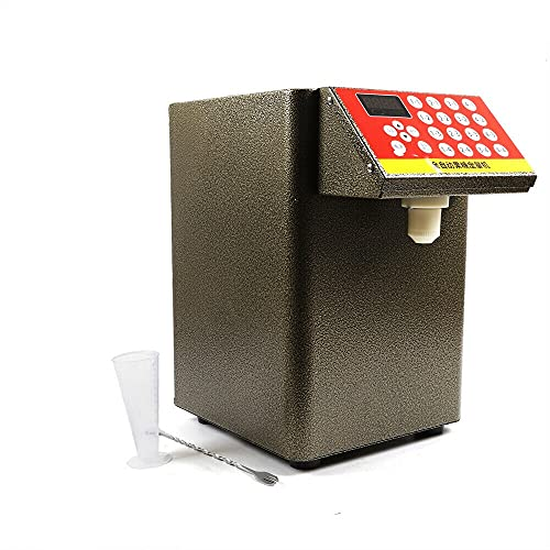 OUKANING Dispensador automático de fructosa de 400 W, dispensador de Jarabe, máquina cuantitativa de fructosa de té de Burbujas 8L + Taza medidora