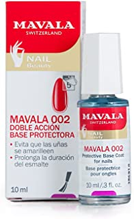 Mavala 002 Base de Manicura Protectora de Doble Acción que Protege las Uñas y Alarga la Duración del Esmalte 10 ml