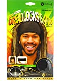 King.J Unisex Spandex Dreadlocks Band (Black)