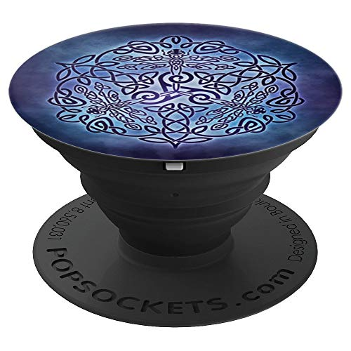 Celtic Knot Dragonfly PopSockets Grip and Stand for Phones and Tablets