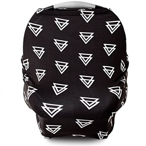 Stretchy Car Seat Covers for Babies, Nursing Cover for Breastfeeding, Nursing Scarf Carseat Canopy Breastfeeding Cover - Breast Feeding Cover ups for Boys or Girls During Summer or Winter - Triangle