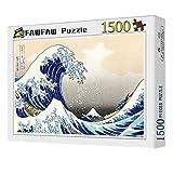 FAWFAW Puzzle 1500 Piezas, La Gran Ola De Kanagawa 1500/1000/500/300 Piezas